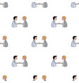 handshaking of businessmen icon in cartoon style vector image vector image