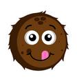 happy coconut emoticon vector image vector image
