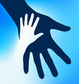 helping hands child vector image vector image