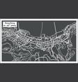 hong hong china city map in retro style vector image vector image