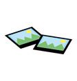 landscape photographs cartoon vector image
