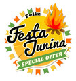 latin america traditional festa junina the june vector image