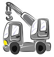 lifting truck on white background vector image