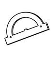 line conveyor ruler school tool education vector image vector image
