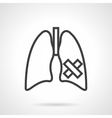Lungs diseases simple line icon vector image vector image