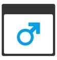 Mars Male Symbol Calendar Page Toolbar Icon vector image vector image