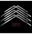 Metallic logo element vector image vector image