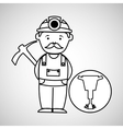 mine worker pickaxe with jackhammer vector image vector image