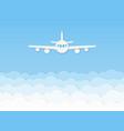 paper airplane beautiful flight plane on blue vector image