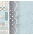 Patchwork with lace fringe vector image vector image