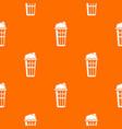 popcorn box pattern orange vector image vector image