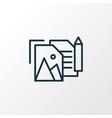 portfolio icon line symbol premium quality vector image vector image