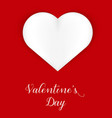postcard for valentines day vertical orientation vector image vector image