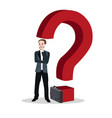 question mark business man concept of thinking vector image