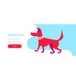 red guard security dog training center concept vector image vector image