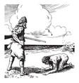 robinson crusoe vintage vector image vector image