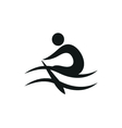 Rowing icon monochrome on white background vector image vector image
