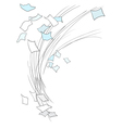 Scatter sheets of paper vector image vector image