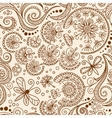 seamless Henna mehndi doodle pattern vector image vector image