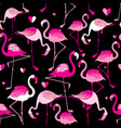 seamless pattern from pink flamingos vector image vector image