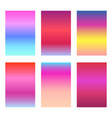 set of bright sunset red and pink ui backgrounds vector image