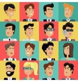 Set of Peoples Faces in Flat Design vector image