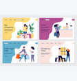 shopping landing pages shopping characters vector image vector image