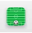 Square icon of football sport vector image vector image
