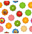 summer beach umbrellas pattern vector image