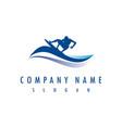 surf company logo vector image vector image