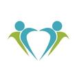 symbol healthy person design vector image vector image