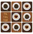 Tic-Tac-Toe of cappuccino and espresso vector image vector image