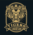 tiger animal old scholl tattoo vector image vector image
