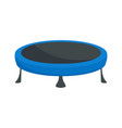 Trampoline icon flat style