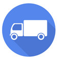 truck flat icon with long shadow vector image vector image