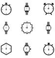 watch icon set vector image
