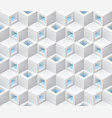 white blue cubes isometric seamless pattern vector image