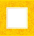 yellow marigold banner card vector image vector image
