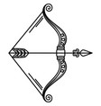 zodiac sagittarius sign symbol bow and arrow vector image