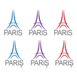 set of eiffel tower vector image
