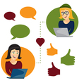 online dating woman and woman app icons in cartoon vector image