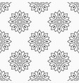 abstract seamless monochrome floral mandala vector image vector image