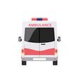ambulance emergency service car front view flat