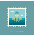 Anchor flat stamp vector image