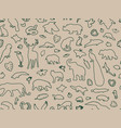 animal shaped outline seamless pattern ill vector image vector image