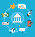 banking and finance economy investment and payment vector image