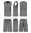 Basketball black uniform vector image vector image