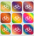 Bicycle bike sign icon vector image