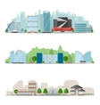 big city skylines banner set vector image