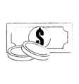 bills and coins icon vector image